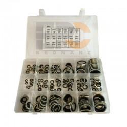 Zestaw uszczelek metalowo-gumowych (180 szt.)