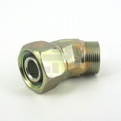 Łącznik kol.nastawny 45° M14x1,5 8-L