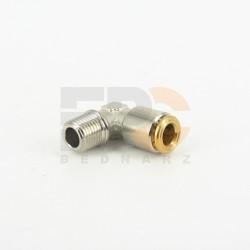 Przyłącze do smaru wtykowe 90° 6-LL M10x1 stożkowy